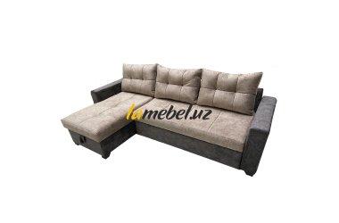 """Угловой диван-кровать """"Монако-3 Light Brown»"""