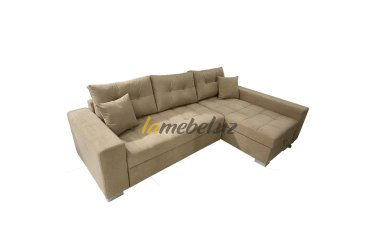 Угловой диван-кровать Irish Light Coffee