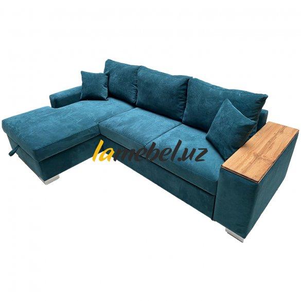 Угловой диван-кровать «Уильям Emerald»